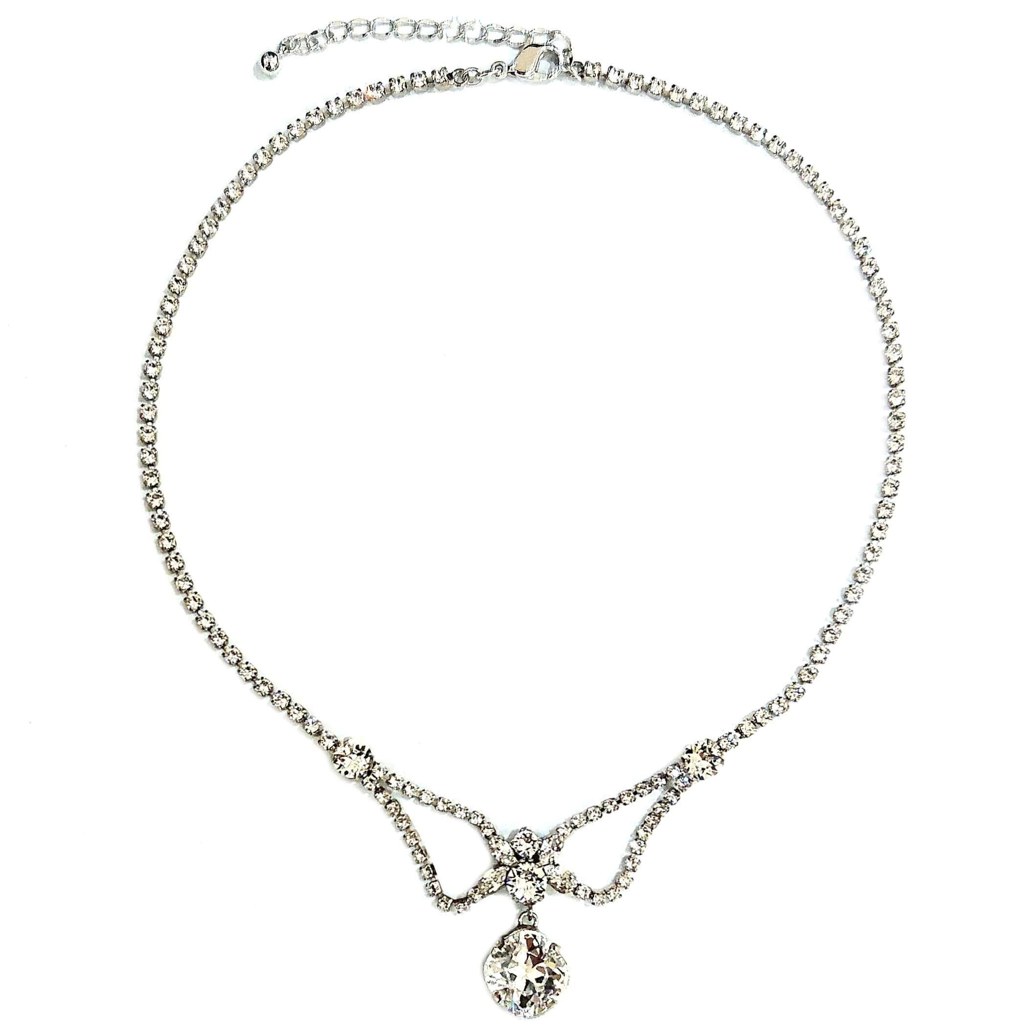 スワロフスキーを使ったブライダル ネックレス シンプルかつすっきりとしたデザイン226