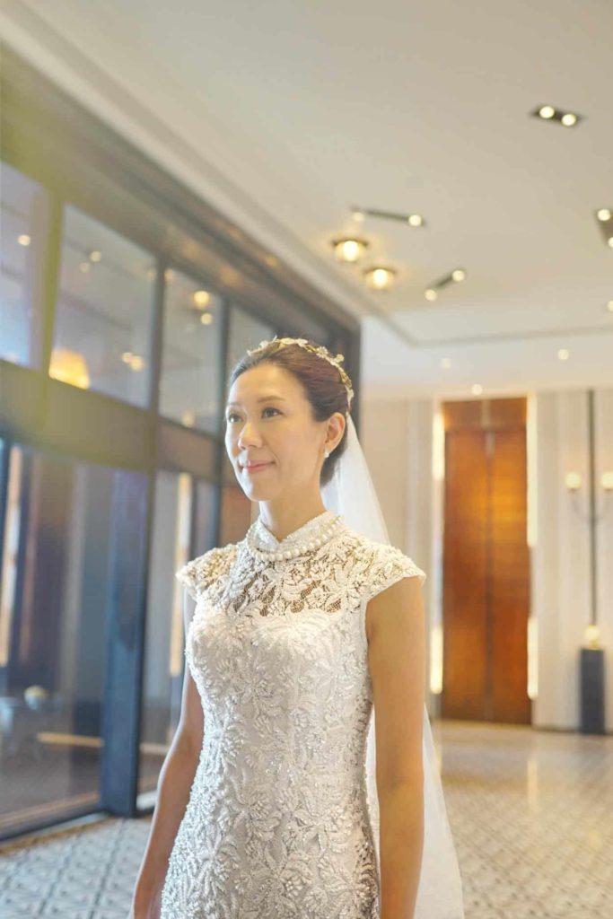 ウェディングドレス デザイン ハイネック